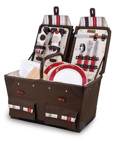 Picnic Time Picnic Basket, Pioneer Moka - Casual Dinnerware - Dining & Entertaining - Macy's