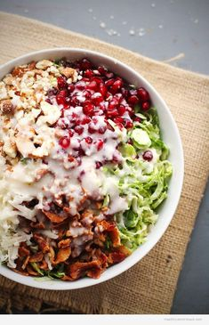 Chopped Brussels Sprouts Salad with Creamy Shallot Dressing - http://www.healthyworksnack.com/chopped-brussels-sprouts-salad-with-creamy-shallot-dressing/