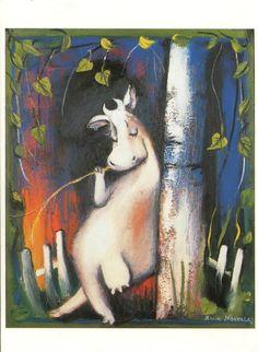 .Raija Nokkala Postcards, Painting, Illustrations, Art, Idea Paint, Art Ideas, Painting Art, Paintings, Kunst