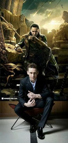Tom Hiddleston......I didn't realize who he was until a friend reminded me he played Loki in Avengers.