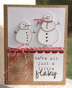 flaky we are! scrapbook embellishment card snow