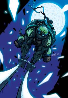 Leo is an extremely skilled martial artist and swordsman. His weapons of choice are a pair of katana blades which he uses in a traditional niten-ryu style. He has a good line of defense, and is the best at planning strategies. He is pretty strong when it comes to defense and counter attacks and he is mainly a well balanced ninja in terms of strength, speed, agility, and is intelligent.