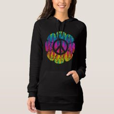 Colorful Peace Symbol Flower T-shirt Hoodie Dress and More Products at Zazzle > http://www.zazzle.com/foxxytees/gifts?cg=196602072313140393  #Peace #Floral #Flower #PeaceSymbol #Tshirts
