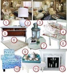 Little Treasures: DIY The Room - Iris Simpkins' Living Room