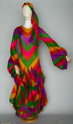 Vintage Dress: Pierre Cardin Couture Evening Dress, Paris, 1970s, Augusta Auctions, November 13, 2013 - NYC