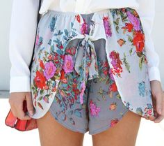 the little floral shorts