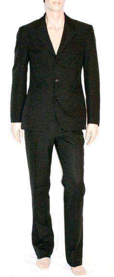 Classic Man Suit Jacket & Pants Viscose Blend Black Color Size L Branded SISLEY Completo Uomo Giacca Pantalone Nero Taglia 50 di BeHappieWorld su Etsy