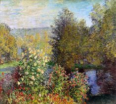 Claude Monet, A Corner Of The Garden At Montgeron, 1877 - tips for how to paint like an Impressionist Petersburg Russia, Framed Art, Framed Canvas, Canvas Art, Wall Art, Painting Canvas, Wall Décor, Impressionist Paintings, Famous Paintings Monet