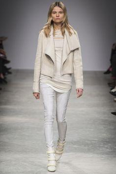 isabel marant a/w 13 paris fashion week  love the layered shades of cream