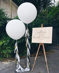 "288 Likes, 4 Comments - MerryLove Weddings (@merryloveweddings) on Instagram: ""A warm wedding welcome with tassels and balloons. #merrylovestyles #merryloveweddings"""