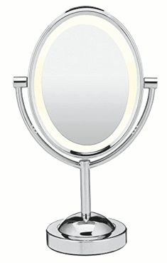 Looking for Conair Oval Double-Sided Lighted Makeup Mirror, Chrome ? Check out our picks for the Conair Oval Double-Sided Lighted Makeup Mirror, Chrome from the popular stores - all in one. Best Vanity Mirror, Lighted Vanity Mirror, Makeup Mirror With Lights, Led Mirror, Oval Mirror, Vanity Mirrors, Venetian Mirrors, Magnifying Mirror, Makeup Tools