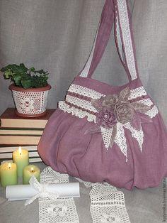"""Сумка""""Однажды в Провансе....""""(в стиле бохо) - бледно-сиреневый, однотонный, сумка женская"""