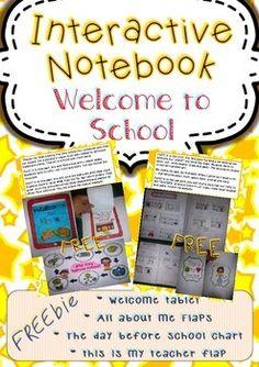 "I added ""FREEBIE INTERACTIVE NOTEBOOK (WELCOME TO SCHOOL) - TeachersPayTeachers.com"" to an #inlinkz linkup!http://www.teacherspayteachers.com/Product/FREEBIE-Interactive-Notebook-Welcome-to-School-1340867"