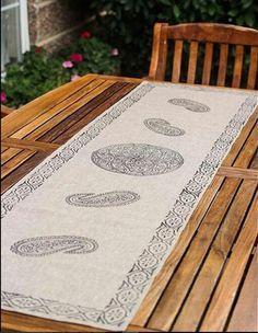 #handmade #runner #elsanatları #yazmacılık #blockprint #art #sanat #zanaat #instasanat #instafashion #evdekorasyonu #evtekstili #garden #gardenart #bahcedekorasyonu