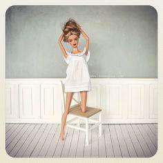 Chica nueva en casa #barbie #ooakbarbie #yaerahora #masfelizqueunaperdiz #bonequea #ooak