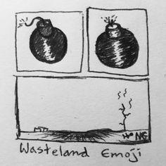 """Wasteland Emoji"" by Nick Gibney"