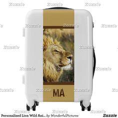 Personalized Lion Wild Animal Wildlife Safari Luggage