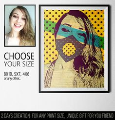 Creative poster in a mixed style with my photography. Bright and eye-catching design will attract the attention of anyone who sees him.