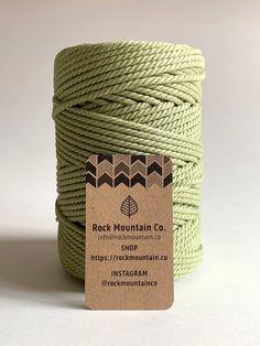 Rock Mountain Co. - Macrame Cord, Cotton Rope, How to Macrame Macrame Wall Hanging Patterns, Macrame Plant Hangers, Macrame Patterns, Yarn Crafts, Diy Crafts, 3 Strand Twist, Macrame Supplies, Macrame Cord, Macrame Knots