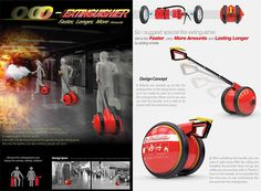 o_extinguisher3 Emergency First Response, Presentation Board Design, Emergency Equipment, Smoke And Mirrors, Yanko Design, Shirt Print Design, Web Inspiration, Cool Inventions, Fire Extinguisher