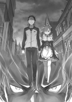 Manga- Re:Zero Characters- Subaru and Rem