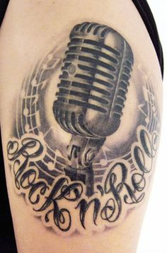 Music microphone tattoo - 60 Awesome Music Tattoo Designs  <3 !