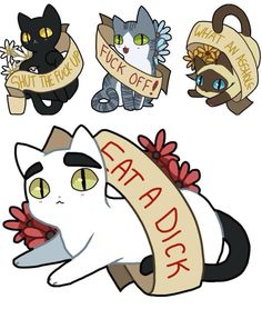 Offensive kitty tattoo ideas ❤️