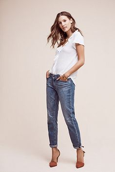 Paige Jimmy Jimmy Mid-Rise Petite Crop Jeans #anthropologie
