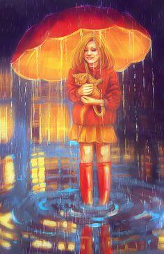 A light-up umbrella is a great idea!