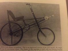 1936 CycloRatio recumbent...
