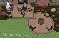 Circle Paver Kit Patio with Fire Pit - Patio Designs & Ideas