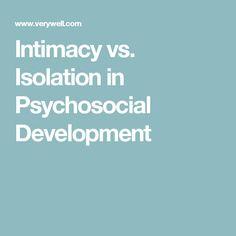 Intimacy vs. Isolation in Psychosocial Development