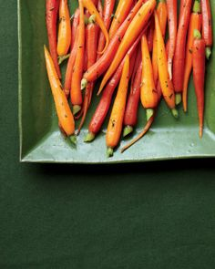 Martha Stewart - Glazed Carrots with Thyme - Good for Thanksgiving!