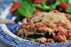 Perfect low-carb lasagna—eggplant instead of pasta.