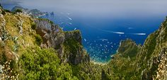 Isle of Capri, Italy. Isle Of Capri, Capri Italy, Landscape Pictures, Mountains, Places, Nature, Travel, Capri, Scenery Paintings