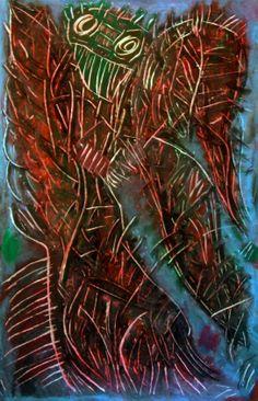 """""""Mantide"""" 2012 Tecnica mista su cartoncino 58x38 ©Pietro Gargano"""