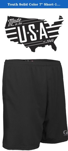 """Youth Solid Color 7"""" Short-1.5"""" Covered Elastic Waist-Soccer, Pee Wee Football, Baseball and other Youth League Activities-Colors Include Black, Red, and Blue-Pocket Option -Sizes YS, YM, YL. (Youth Large, Black). Made for any sport or occasion, the Game Gear 7"""" Poise Solid Short will bring comfort and strength. Whether in the heat of competition or lounging at home, this Game Gear essential will be sure to please. Complete the set with the Game Gear Poise Reversible Jersey."""