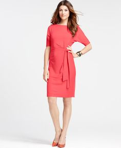 Short Sleeve Side Tie Knit Dress- Please find your way into my closet now.   #AnnHeartsFashion #Fashion