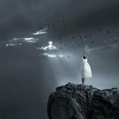 On the Edge Dream Photography, Art Gallery, Deviantart, Illustration, Animals, Beautiful, Lonely, Campaign, Boys