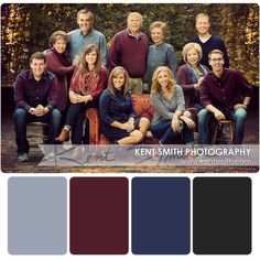 Photography Family Large Color Schemes IdeasYou can find Family photo outfits and more on our website. Fall Family Picture Outfits, Family Portrait Outfits, Family Picture Colors, Fall Family Portraits, Family Picture Poses, Family Posing, Colors For Family Pictures, Family Portrait Poses, Extended Family Pictures