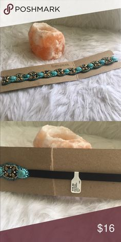 Turquoise Hair band Francesca's Turquoise beaded head band. Never worn. Tag still on Francesca's Collections Accessories Hair Accessories