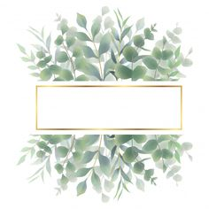 Watercolor Green Leaf Frame For Wedding Invitations Vector and PNG Watercolor Leaves, Watercolor Rose, Watercolor Background, Green Leaf Background, Frame Background, Vector Background, Rose Frame, Flower Frame, Vector Verde