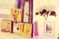 Creative Bridal Shower Gift, Engagement Photos, shabby chic wedding shower center pieces