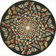 Circle Limit With Butterflies [ESCHER12519] - $14.25 : Heaven And Earth Designs…