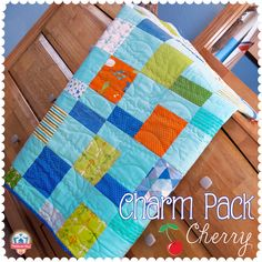 Charm Pack Cherry FREE Quilt Pattern, featuring Bartholo-meow's Reef by Tim & Beck