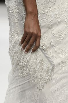 The intricate hand-embroidery, French lace applique, micro beading and metallic foil we've witnessed on the New York runway (so far) really does warrant a closer look. Badgley Mishka Bridal Fashion Week Autumn Winter 2015