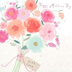 Mother's Day Card - 'Mother's Day Bouquet'