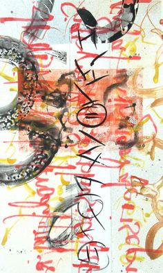 """Laura Wait  Scriptograph #25, 2012, watercolor from vellum and mat board, 27"""" x 17"""""""