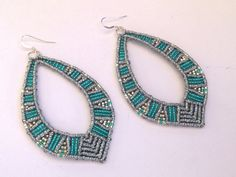Macrame Earrings, Micromacrame Jewerly