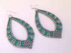 Macrame Earrings, Micromacrame Jewerly
